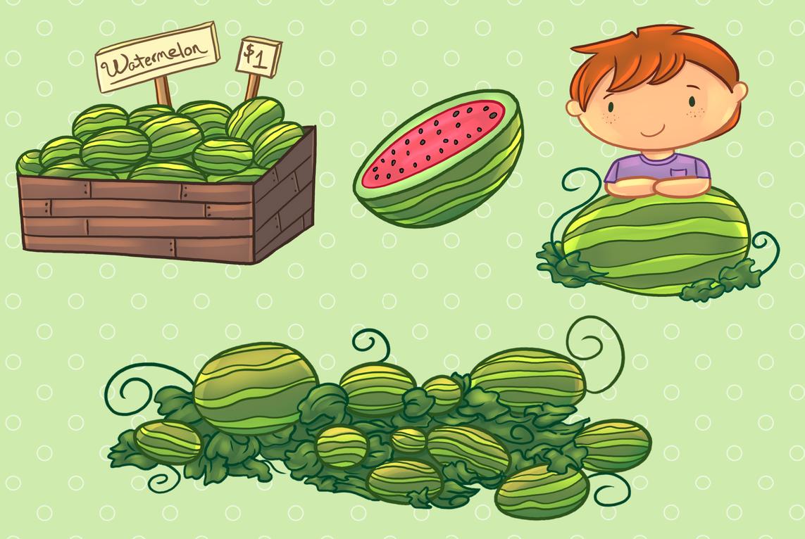 Watermelon clipart patch. Clip art collection