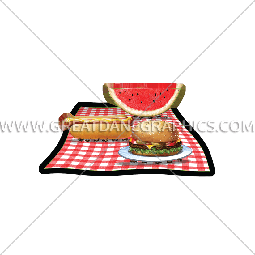 Watermelon clipart picnic. Ants production ready artwork
