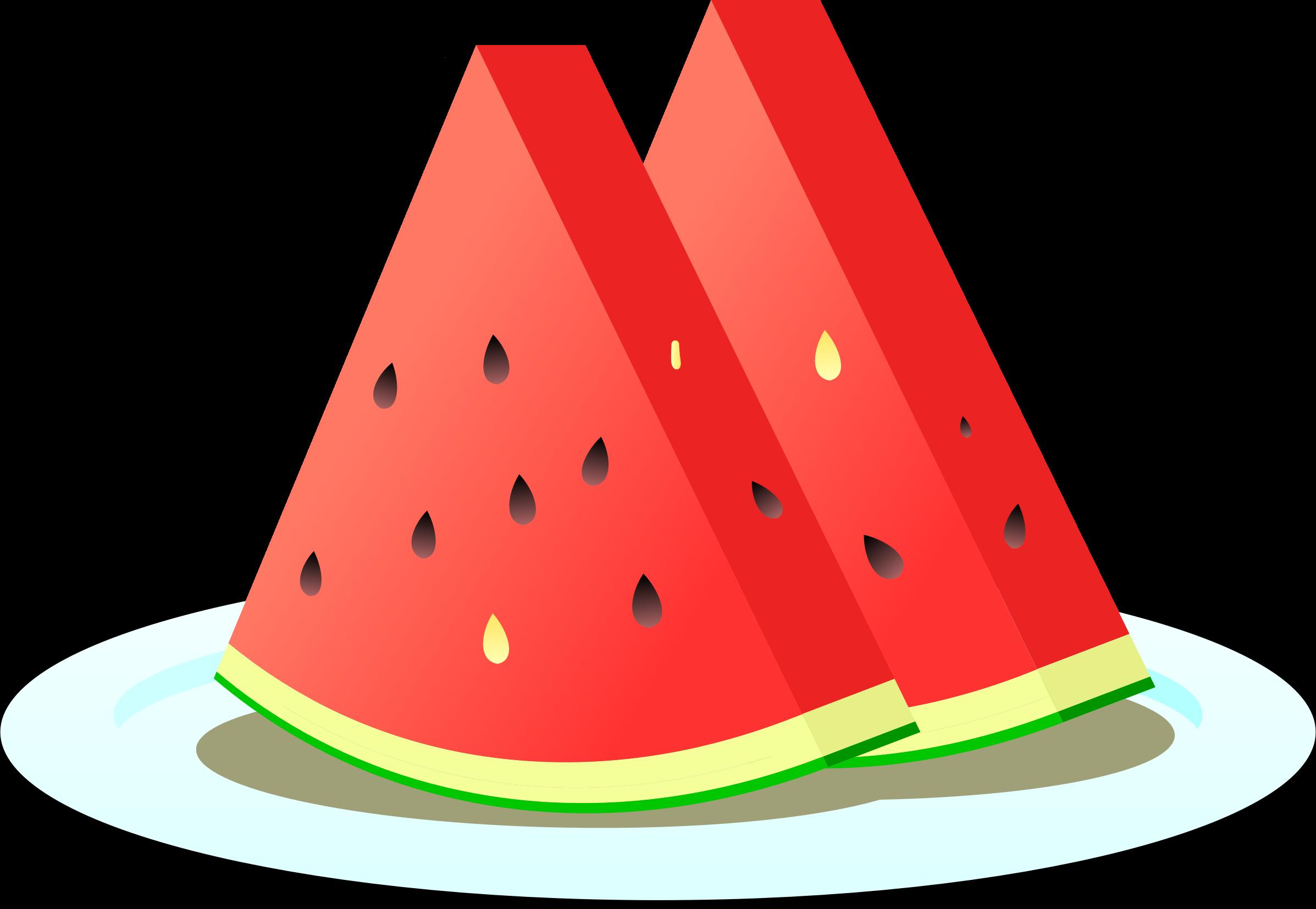 Watermelon clipart piece, Watermelon piece Transparent ... (2394 x 1655 Pixel)