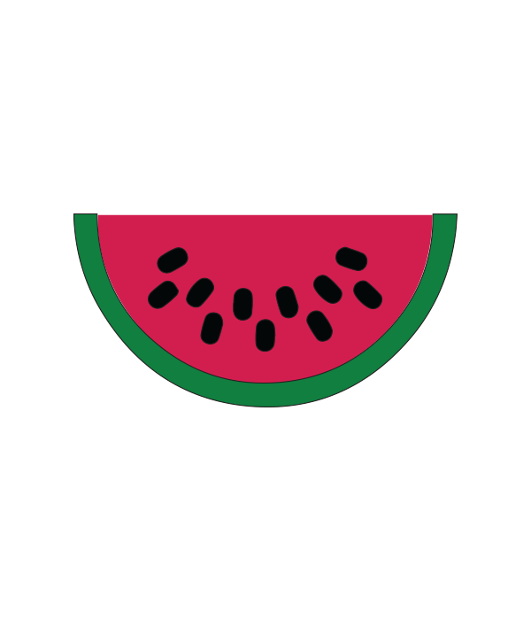 Svg file chicfetti . Watermelon clipart pip