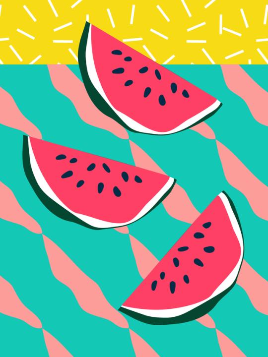 Pin by funky aesthetics. Watermelon clipart pop art