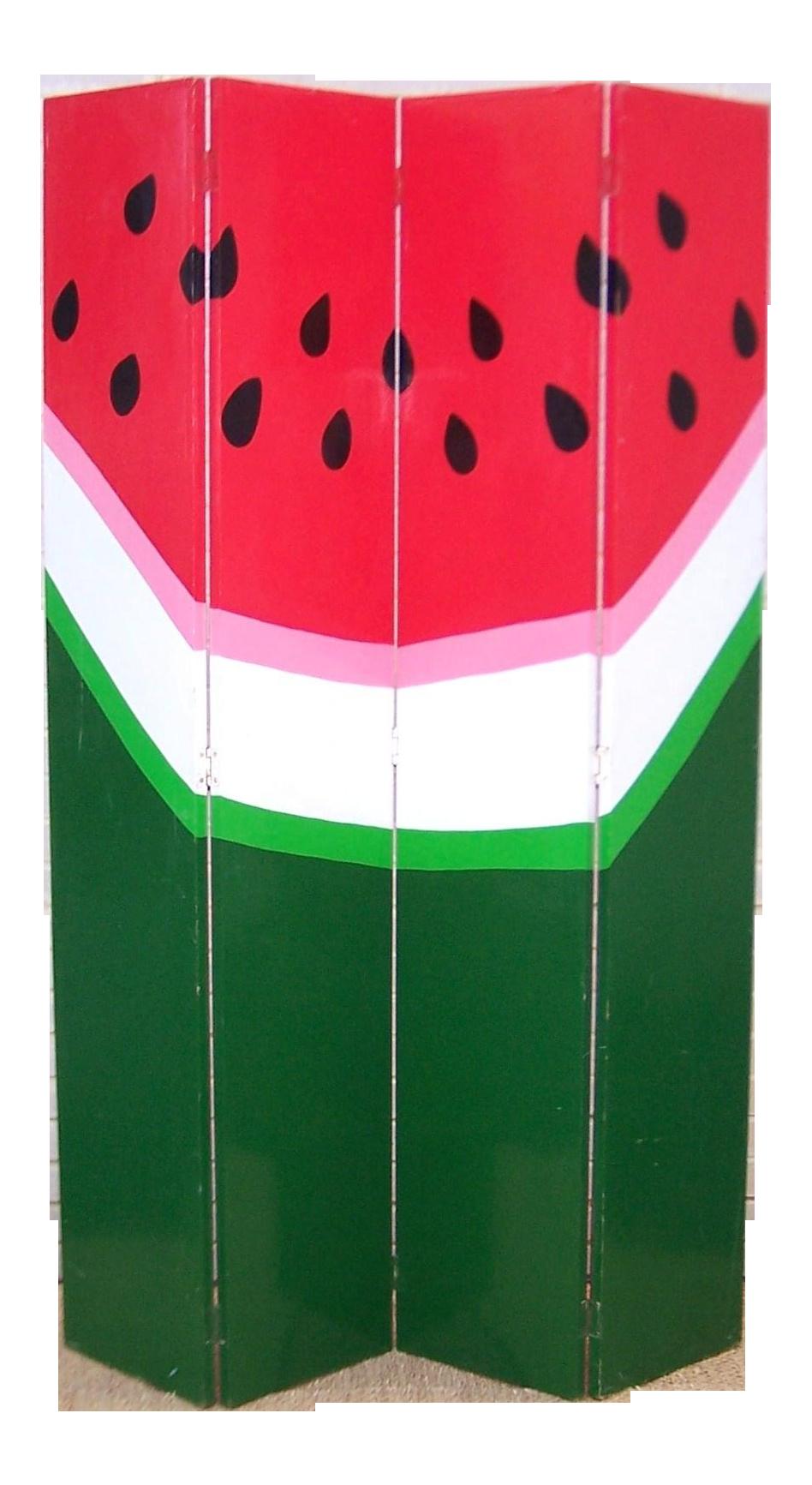 Hand painted screen chairish. Watermelon clipart pop art