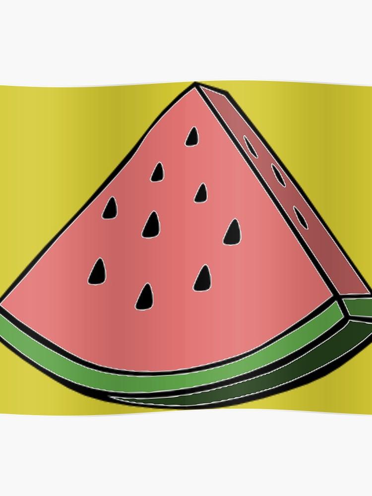Watermelon clipart pop art. Poster