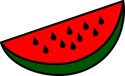 Watermelon clipart red watermelon. Clip art for kids