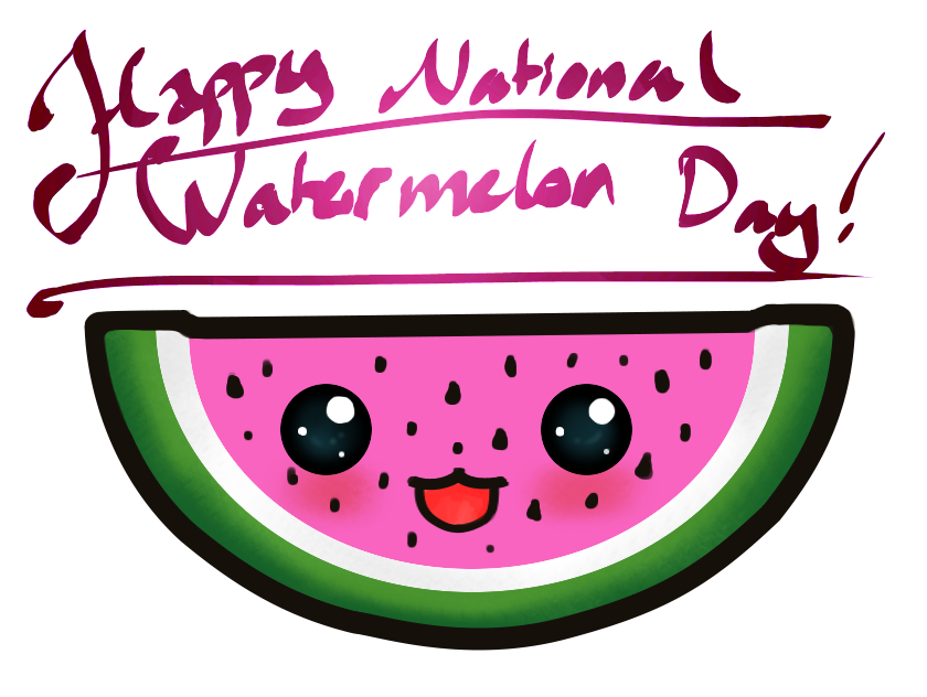 National day august is. Watermelon clipart shake