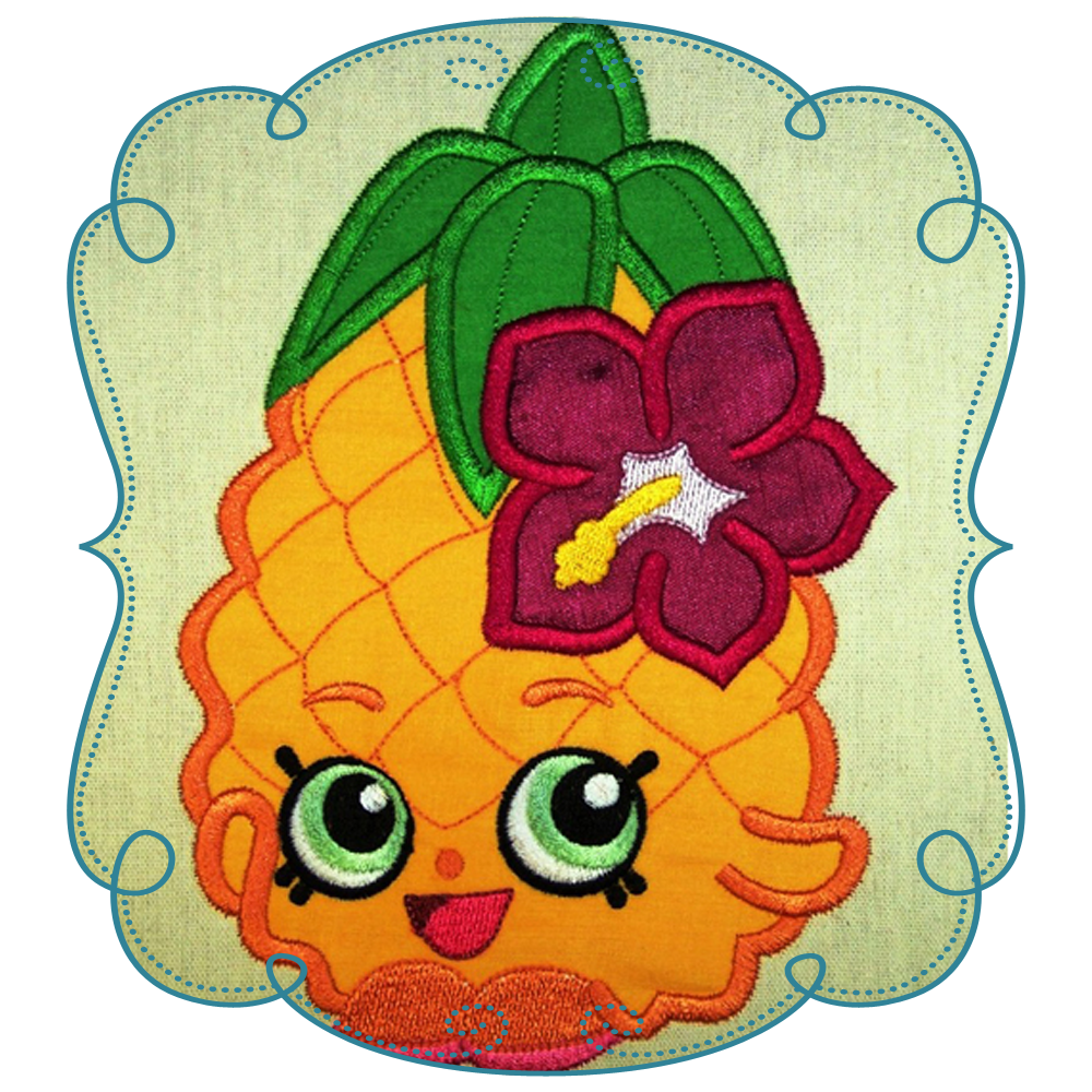 Watermelon clipart shopkins. Applique machine embroidery design