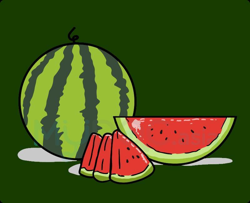 makanan mudah untuk. Watermelon clipart sihat