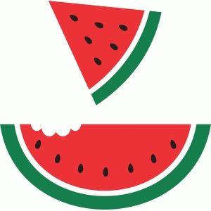 Watermelon clipart silhouette. Design store cricut