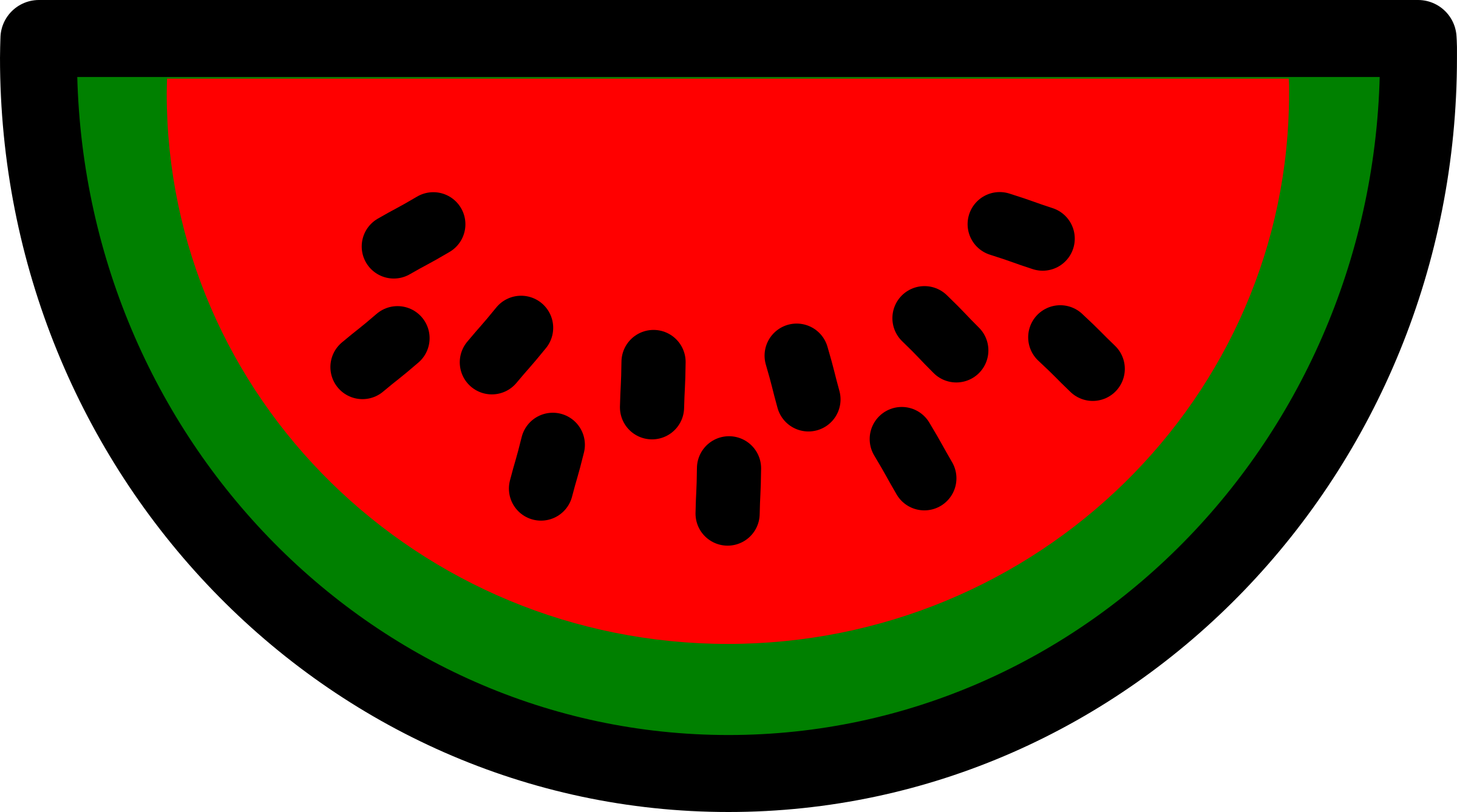 Icon big image png. Watermelon clipart simple