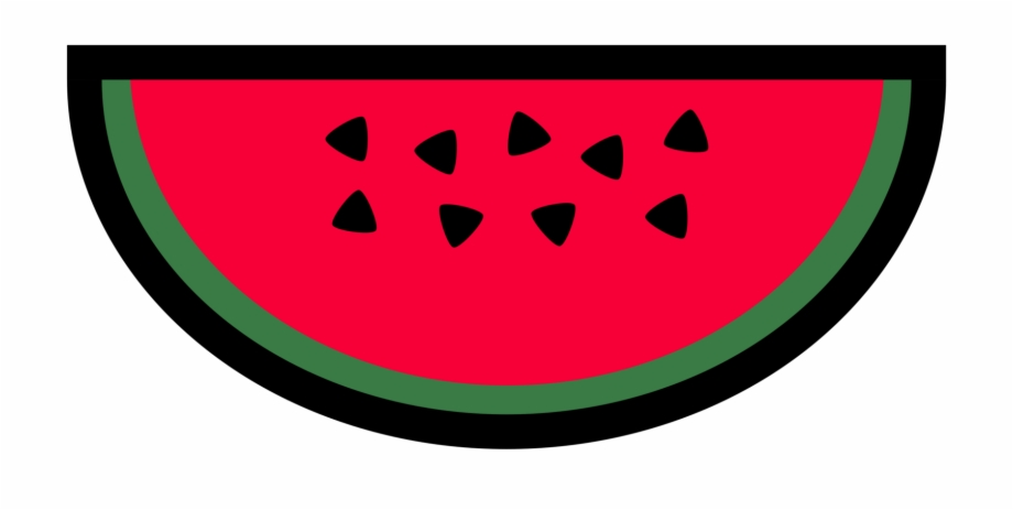 Watermelon clipart simple. Drawing fruit line art
