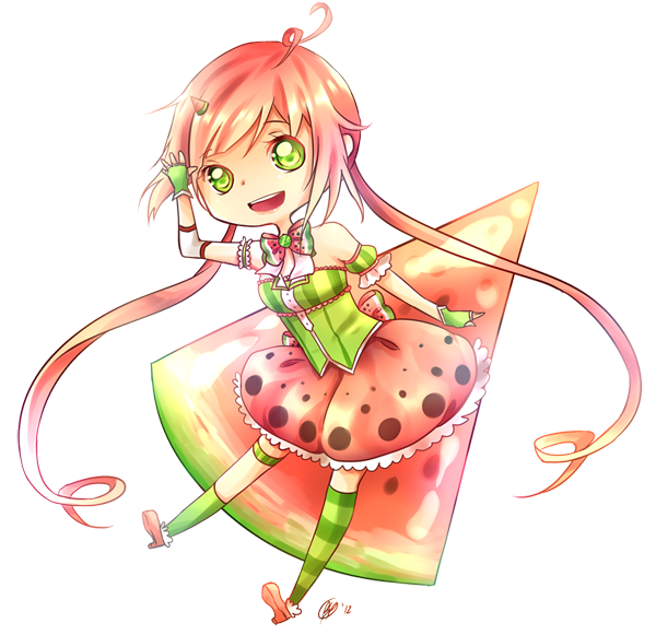Miss by yennineii on. Watermelon clipart strawberry