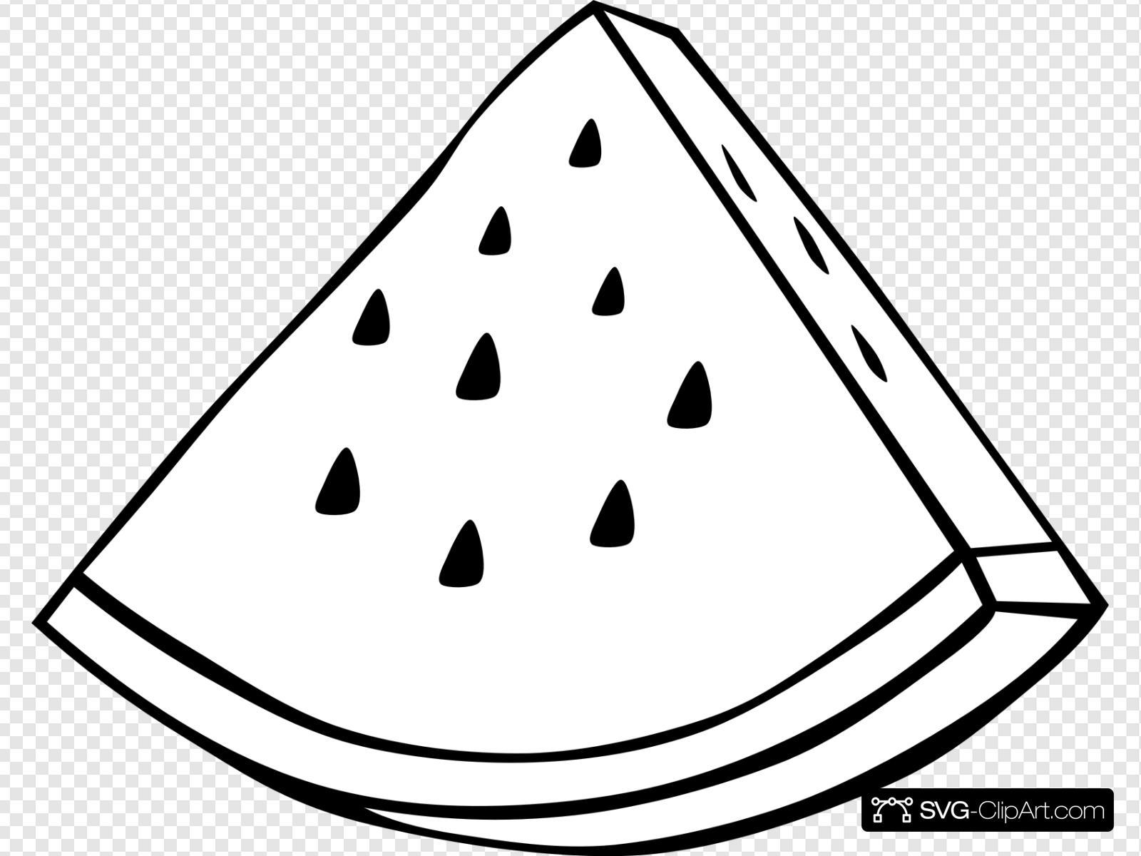 Watermelon clipart svg. Melon outline clip art