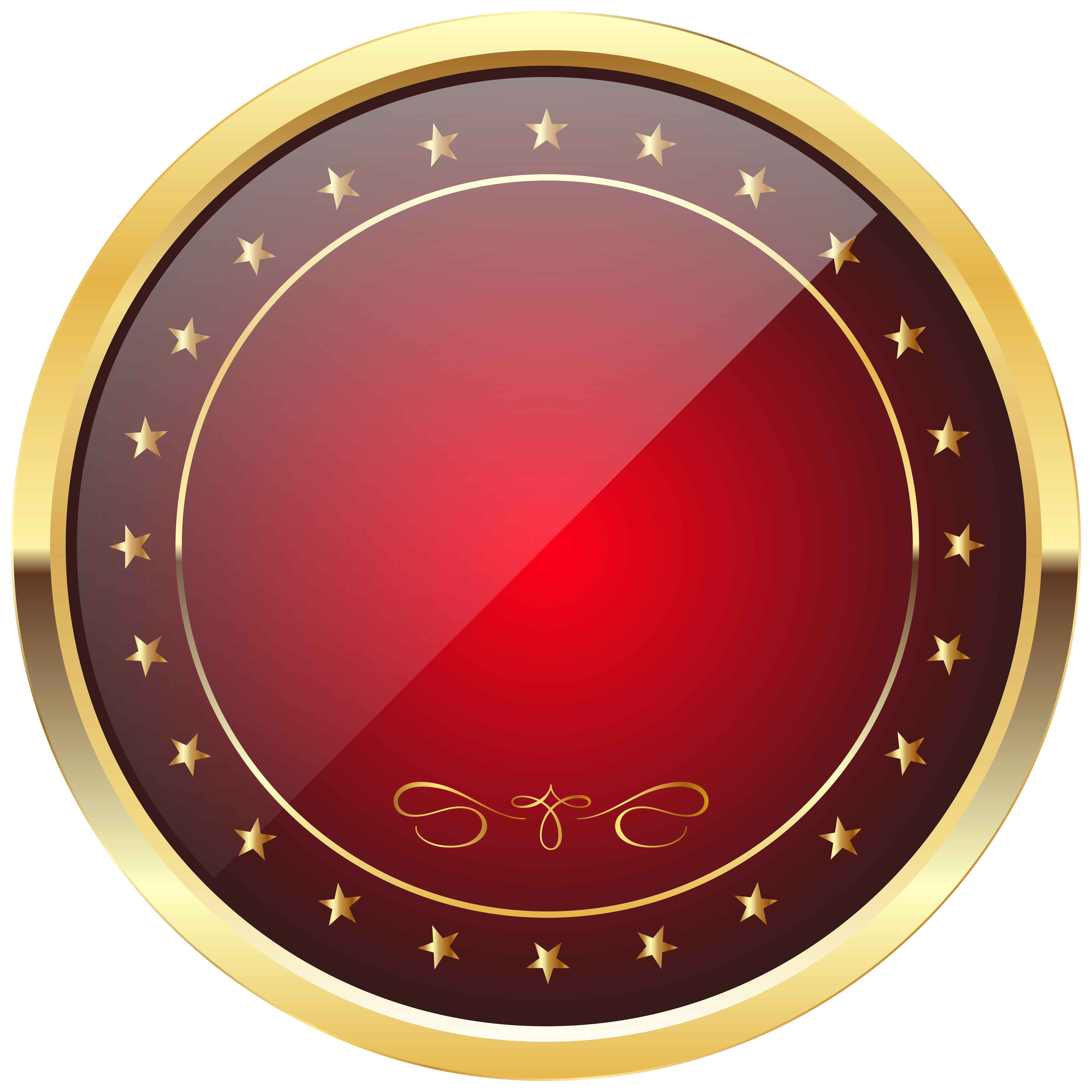 Watermelon clipart template. Red and gold badge