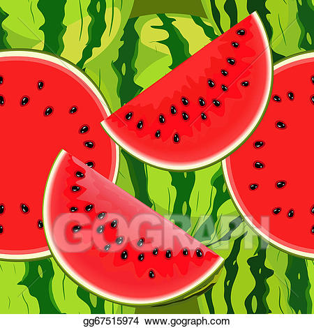 Vector seamless of juicy. Watermelon clipart texture