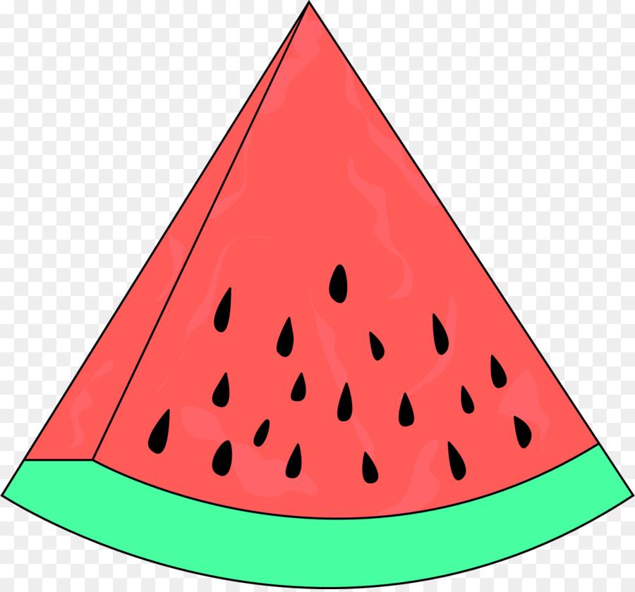 Watermelon clipart triangle. Cartoon food