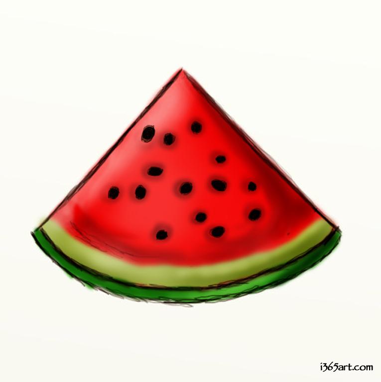 Watermelon clipart triangle thing. Clip art border free