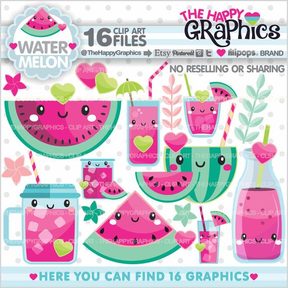 Watermelon clipart tropical. Graphics commercial use