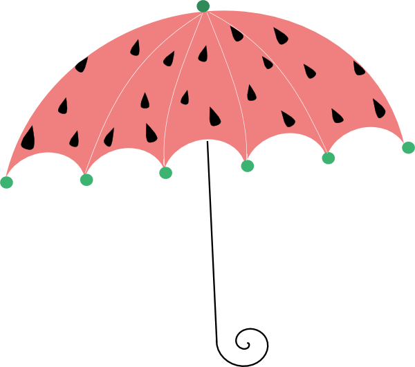 Watermelon clipart umbrella. Clip art at clker