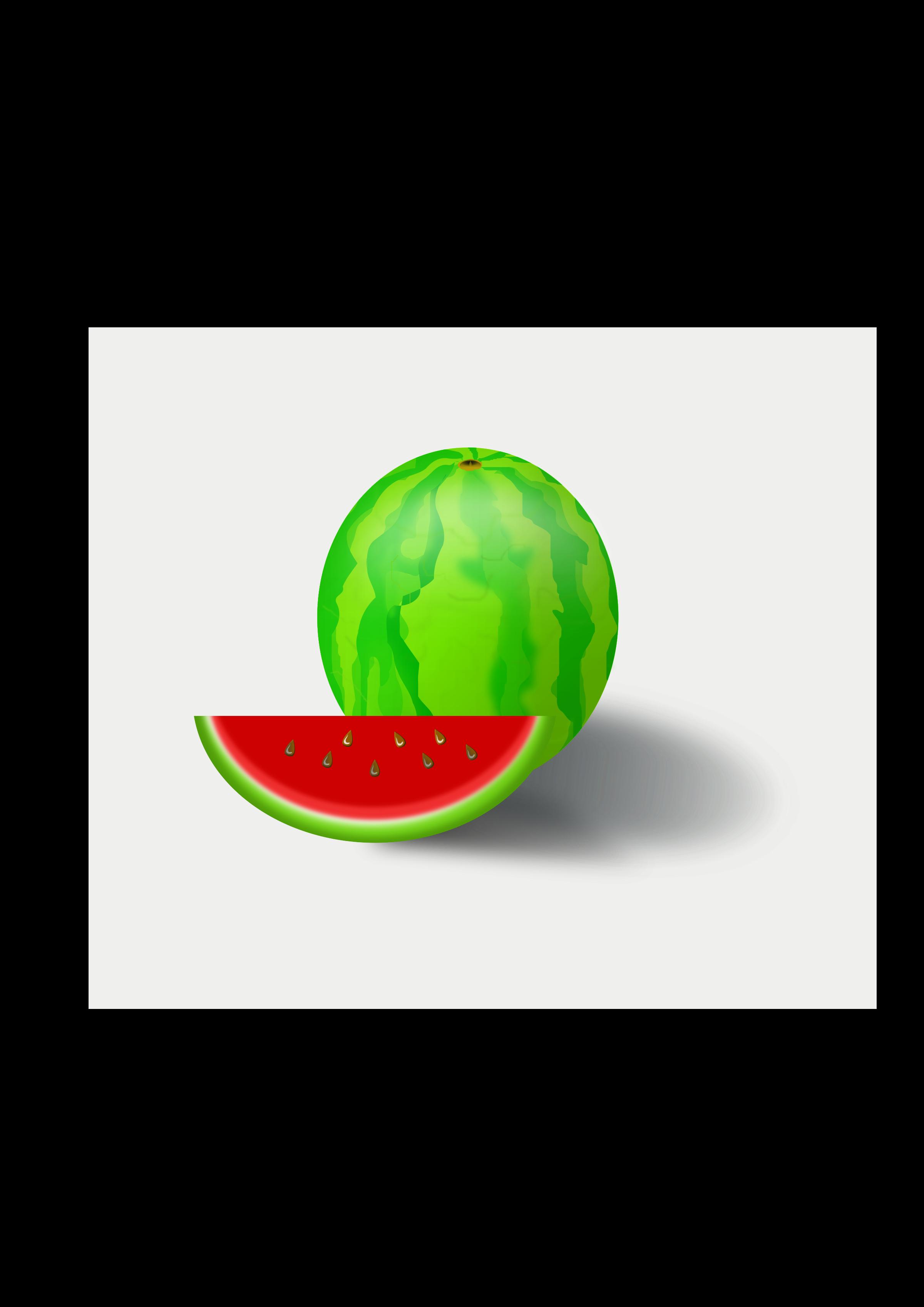 Fruit big image png. Watermelon clipart vector