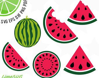 Watermelon clipart vector. Etsy
