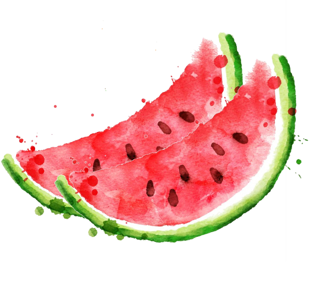 Watermelon clipart watercolor. Royalty free stock photography