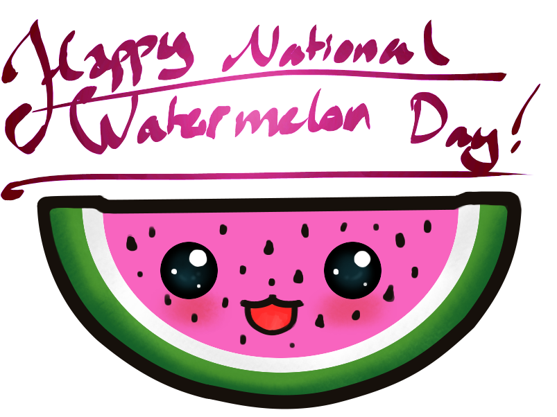 Hd smiling national . Watermelon clipart watermelon day