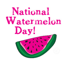 National august holidays and. Watermelon clipart watermelon day