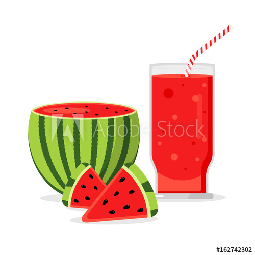 Watermelon clipart watermelon drink. Slices of with glass