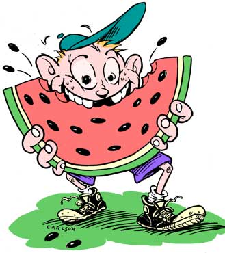 Clip art library . Watermelon clipart watermelon eating contest