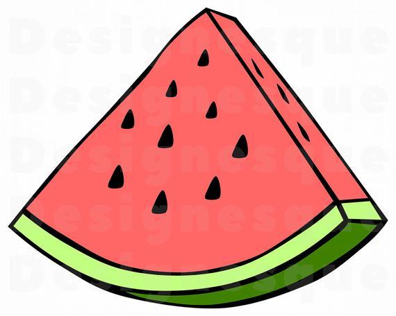 Watermelon clipart watermelon slice. Svg files for cricut