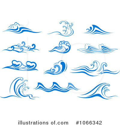 Illustration by vector tradition. Waves clipart