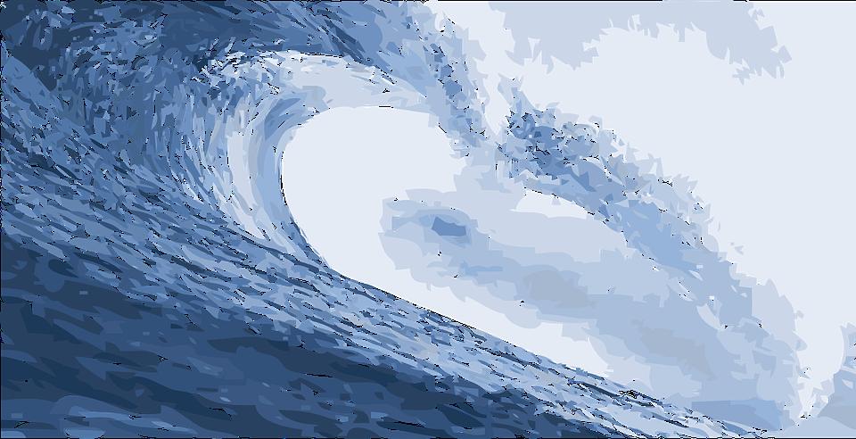 Cartoon ocean shop of. Waves clipart beach wave