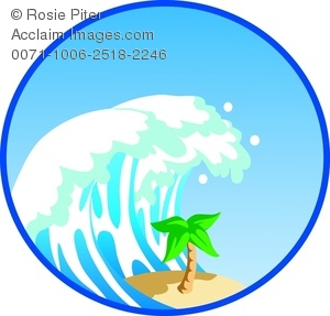 Waves clipart big wave. Image of a tall