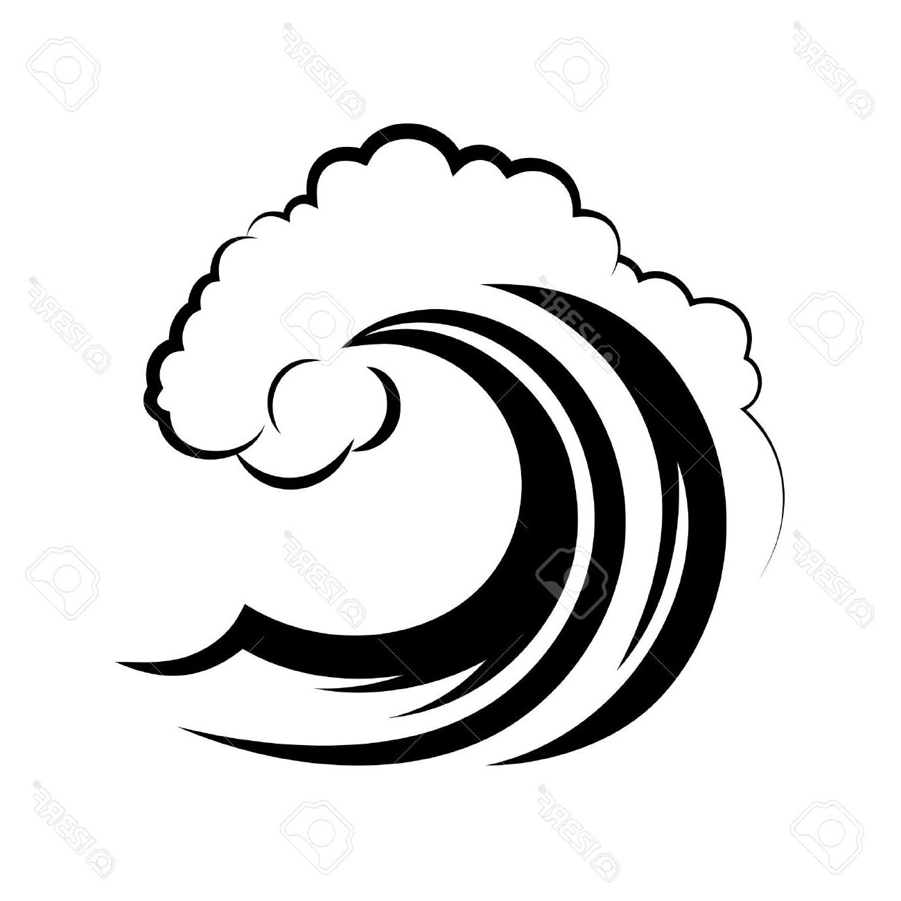 Waves clipart black and white. Wave free download best