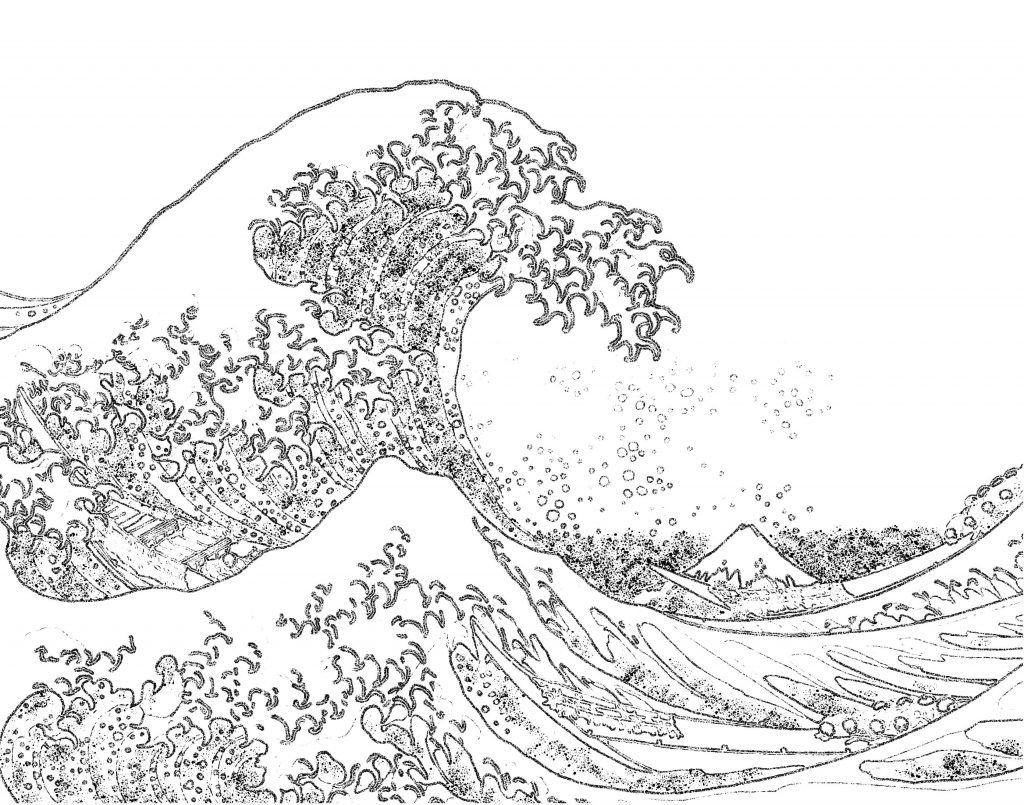 Free printable ocean pages. Waves clipart coloring page
