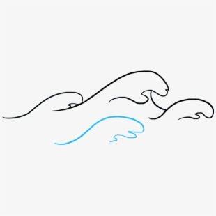 How to draw ocean. Waves clipart easy