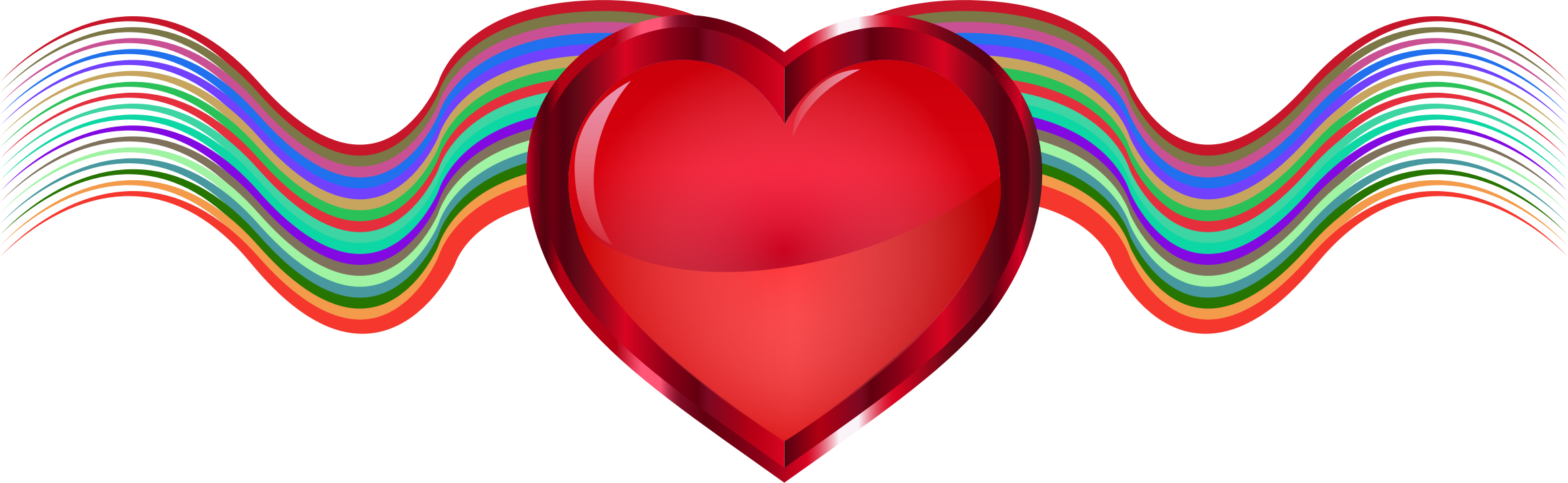 Vermillion ribbons big image. Waves clipart heart