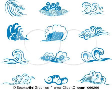 Sea royalty free vector. Waves clipart illustration