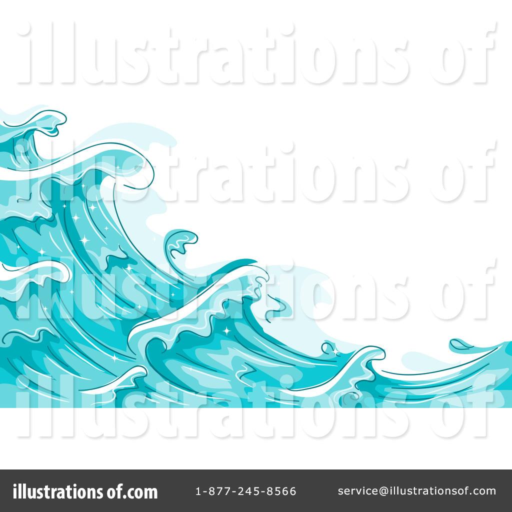 Waves clipart illustration. By bnp design studio