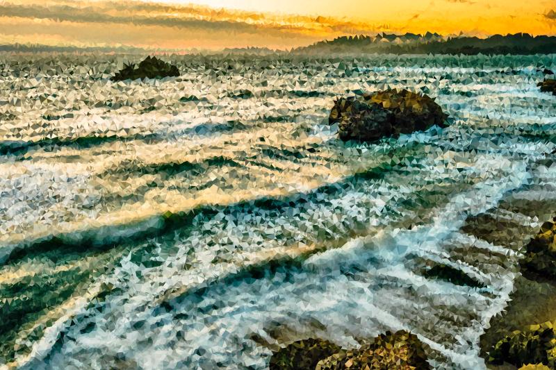 Waves clipart lake wave. High poly crashing on