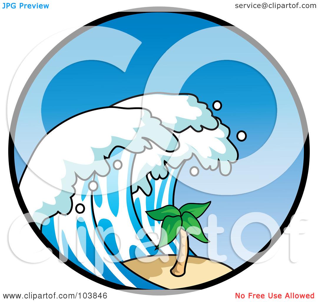 Waves clipart large wave. Crashing panda free images