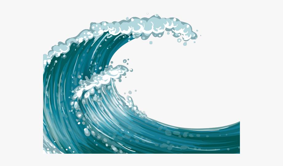 Transparent background . Waves clipart ocean wave