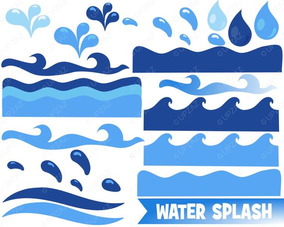 Waves clipart ocean wave. Water sea borders nautical