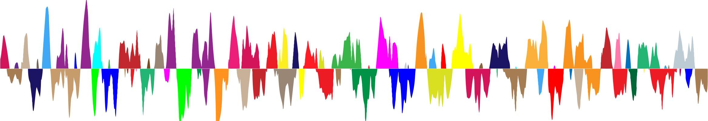Waves clipart rainbow. Prismatic sound wave zoomed