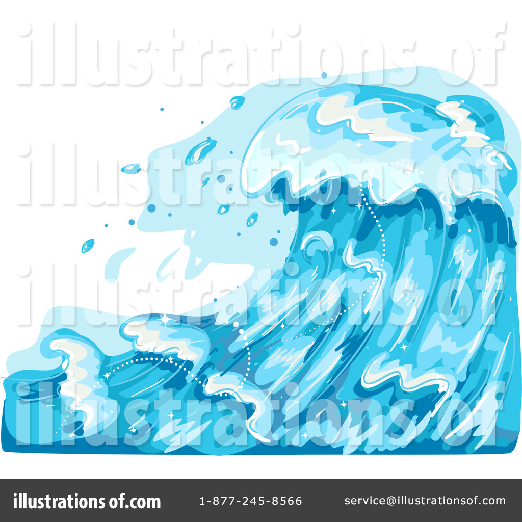 Illustration by bnp design. Waves clipart rough wave