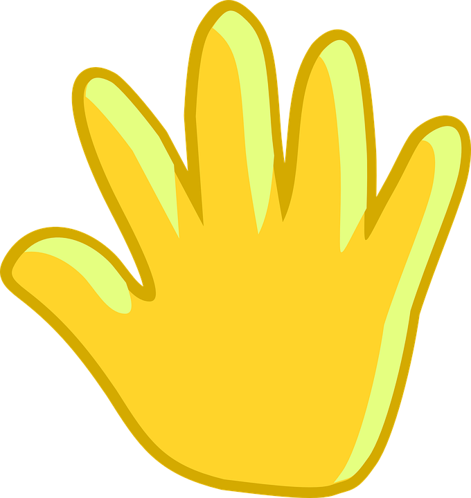 Goodbye hand wave on. Waves clipart royalty free