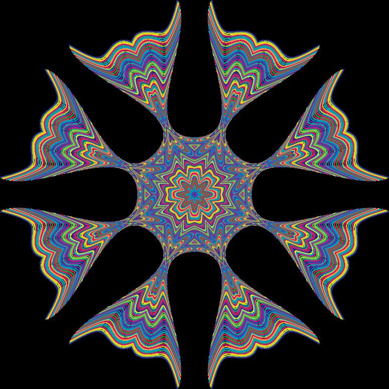 Prismatic design medium image. Waves clipart star