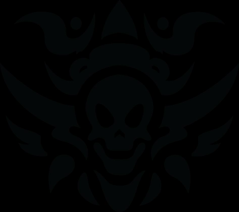 Waves clipart tribal. Skull tattoo transparent png