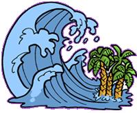 Waves clipart tsunami. Wave panda free images