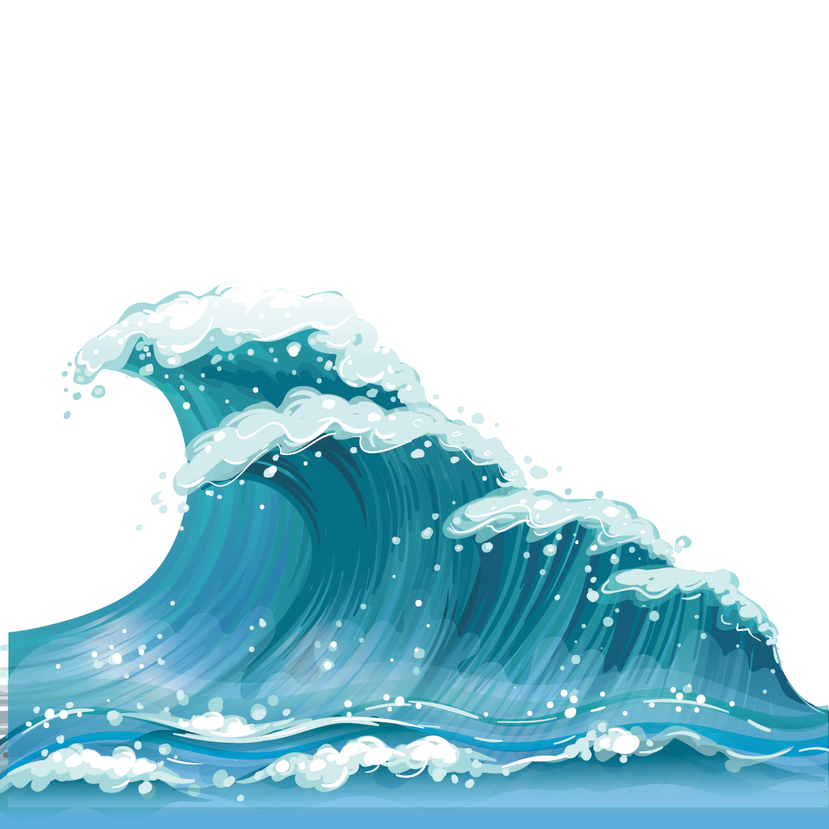 Waves clipart wave vector. Wind clip art material